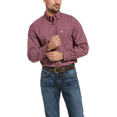Ariat Men's Burgundy Rhodes Classic Fit Shirt