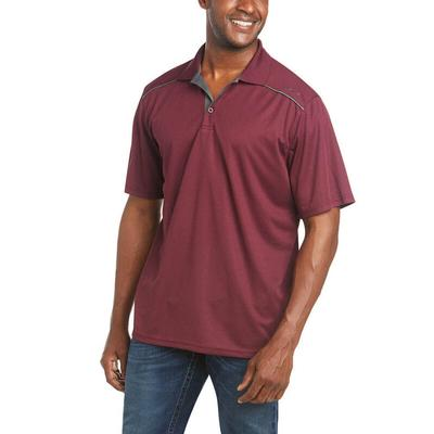 Ariat Men's Tek 2.0 Maroon Polo