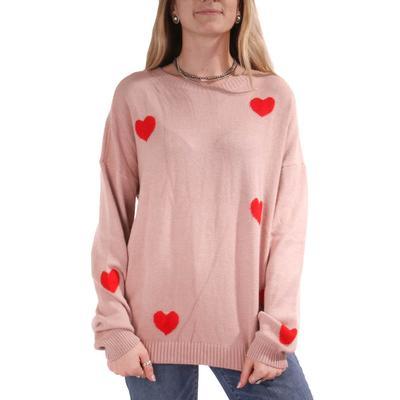Women's Long Sleeve Heart Sweater
