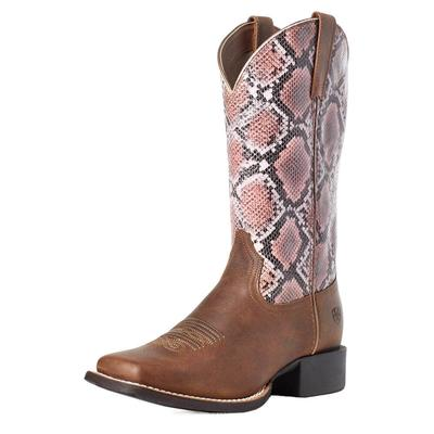 Ariat Women's Snakeprint Round Up Western Boots