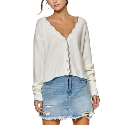 Women's Scallop Trimmed Sweater