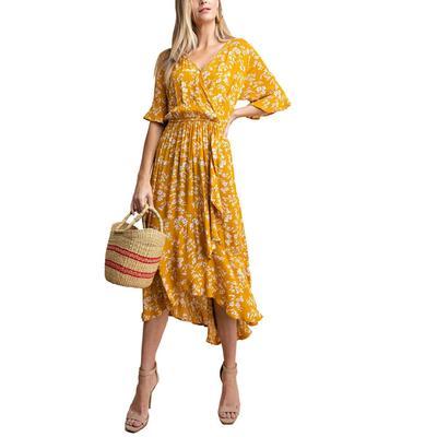 Kori Women's Floral Smocked Waist Dress