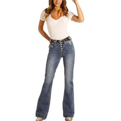 Rock&Roll Women's Button-Fly Trouser Jeans