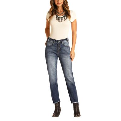 Rock&Roll Women's High Rise Cropped Jeans