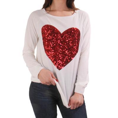 Women's Sequin Heart Top