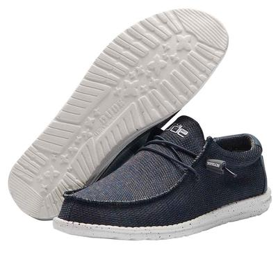 Hey Dude Men's Navy Grey Wally Sox