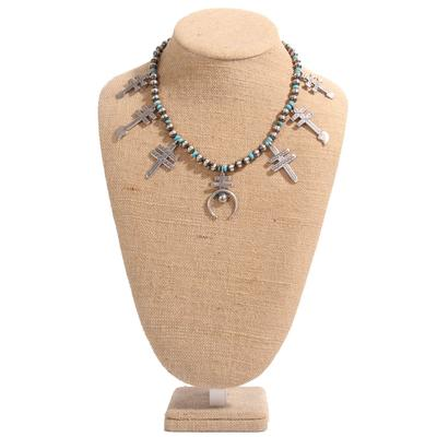 Sterling Silver and Turquoise Pendants Necklace