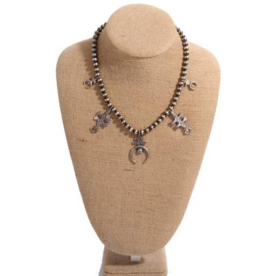 Sterling Silver Bead and Pendants Necklaces