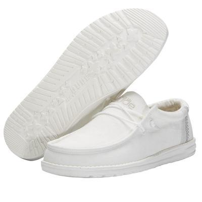 Hey Dude Men's Natural White Wally Linen
