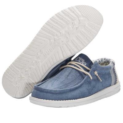 Hey Dude Men's Natural Blue Wally Linen
