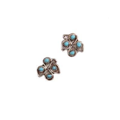 Turquoise Bird Stud Earrings