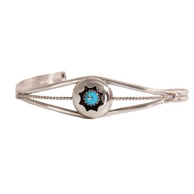 Sterling Silver Turquoise Stone Cuff