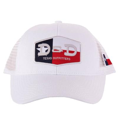 Men's White D&D Texas Flag Cap