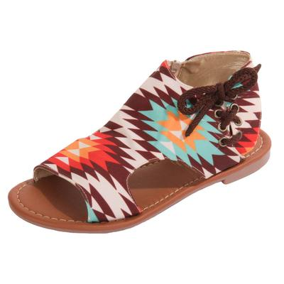 Women's Orange Aztec Sandals