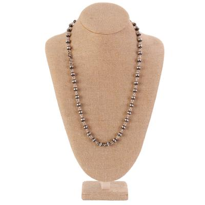Sterling Silver 30 Inch Bead Chain Necklace