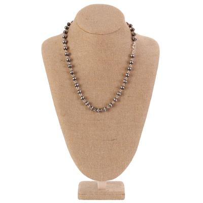 Sterling Silver 24 Inch Bead Chain Necklace