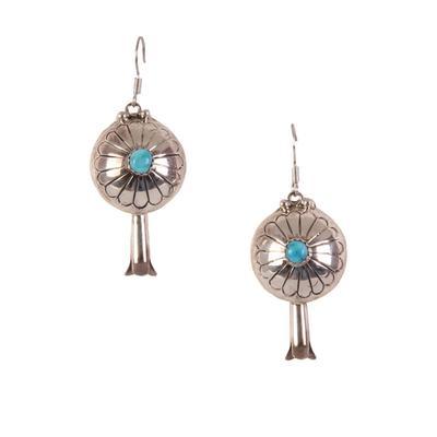Turq Concho Dangle Earring