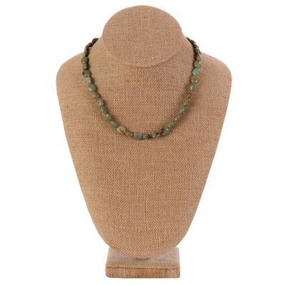 Women's Green Turquoise Stone Necklace