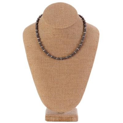 Sterling Silver 16 Inch Multi Beaded Necklace