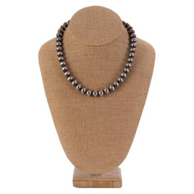 Sterling Silver 10 Millimeter Beaded Necklace