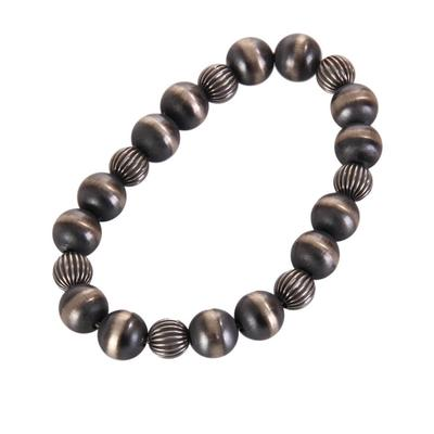 Sterling Silver Women's Multi Beaded Bracelet