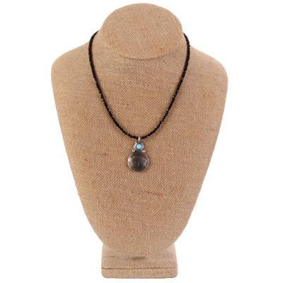 Women's Beaded Buffalo Nickle Necklace