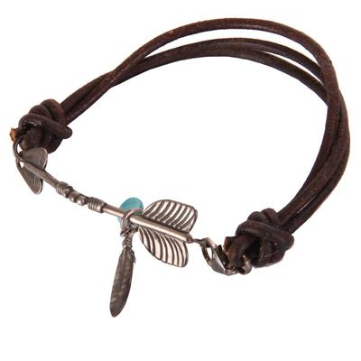 LEATHER ARROW BRACELET