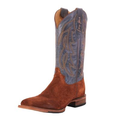 Justin Men's Blue George Straight Western Boots