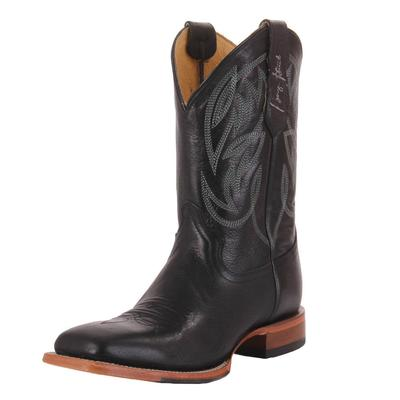 Justin Men's Black George Straight Western Boots