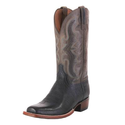 Lucchese Men's Navy Smooth Ostrich Western Boots