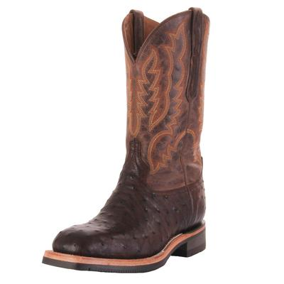 Luchesse Men's Antique Chocolate Rowdy Western Boots