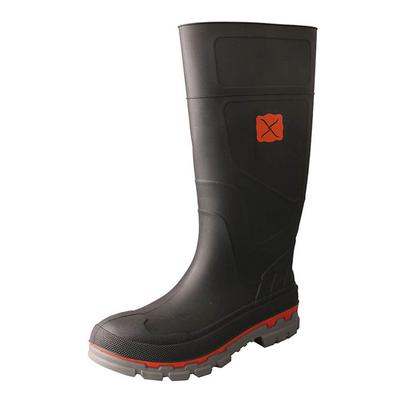Twisted X Men's Black Rubber Work Boots