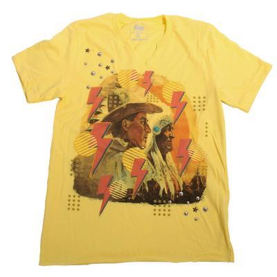 Gina Tees Women's Lightning Cowboy T-Shirt