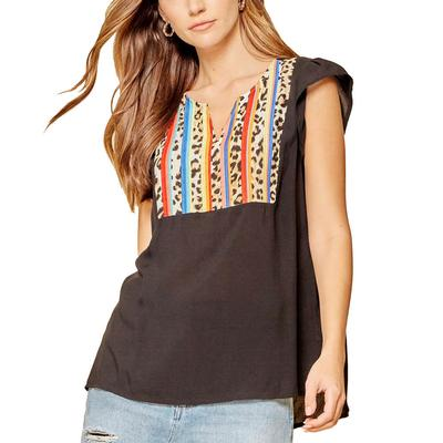 Women's Embroidered Striped Top