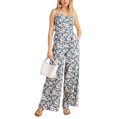 Kori Women's Denim Floral Jumpsuit