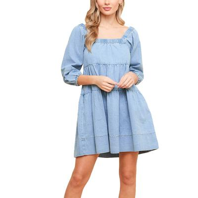 Women's Denim Babydoll Dress