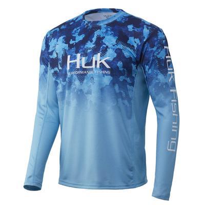 Huk Men's Icon X Refraction Camo Long Sleeve