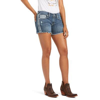 Ariat Women's Reverse Side Stripped Boyfriend Shorts