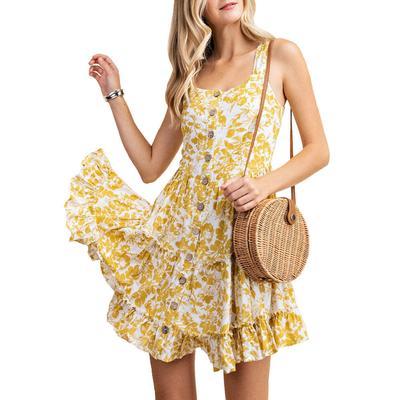 Kori Women's Lovely Floral Sun Dress