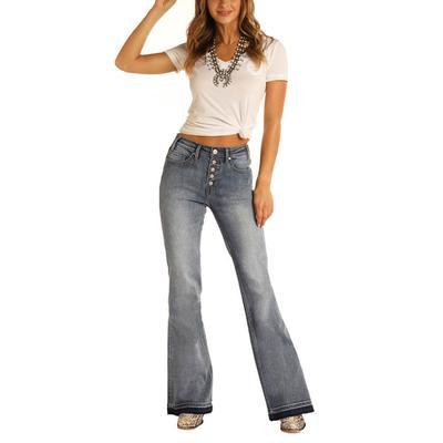 Rock&Roll Women's Highrise Trouser Jeans