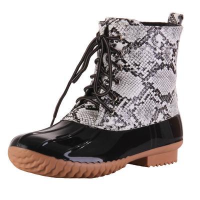 Women's Waterproof Snake Skin Boots