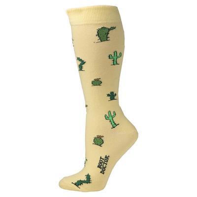 M&F Western Women's Yellow Cactus Socks