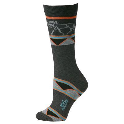 M&F Western Women's Grey Horse Socks