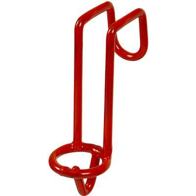 Red Metal Bucket Hanger