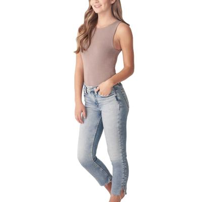 Silver Jeans Women's Most Wanted Straight Cropped Jeans