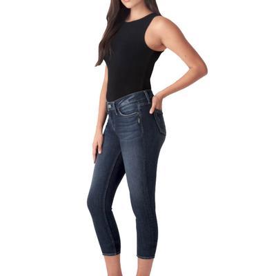 Silver Jeans Women's Elyse Skinny Cropped Jeans