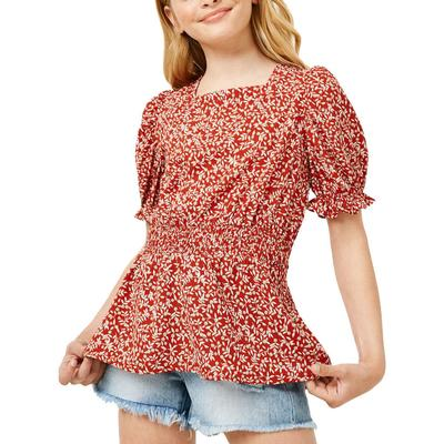 Hayden Girl's Smocked Floral Top
