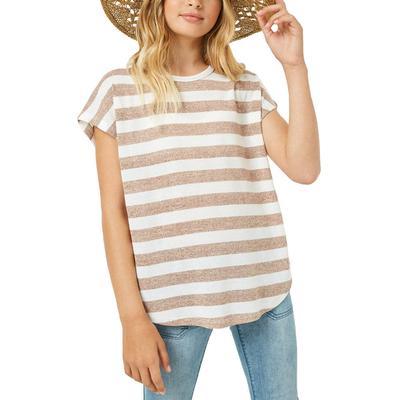 Hayden Girl's Heathered Stripe Knit Top