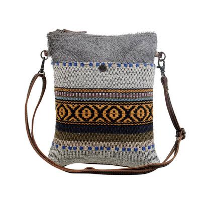 Myra Small Tribal Pattern Crossbody Bag