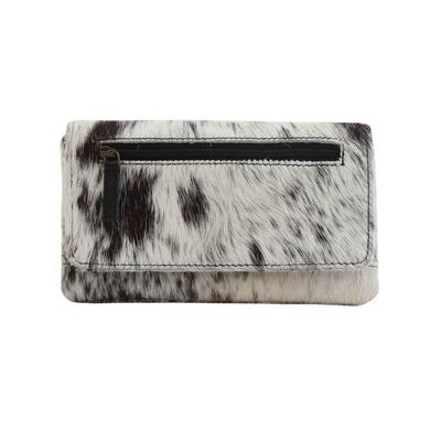 Myra Cookie Crunch Hair-On Leather Wallet